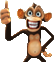 Bubbles Monkey Thumbs Up-Icon