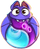 BWS3 Bat Duo Blue-Purple bubble