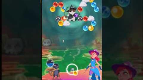 Bubble Witch 3 Saga Level 160 ~ Defeat Wilbur ~ 3 stars ~ no boosters