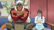 Takashi Mikado with Drum Bunker Dragon Father