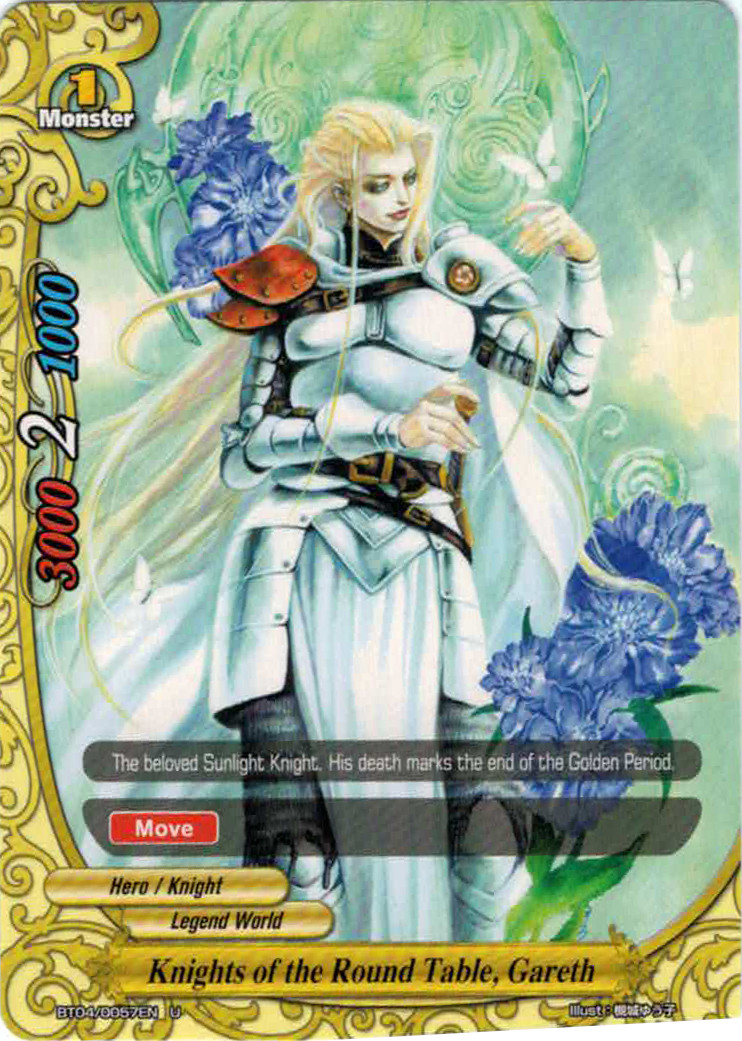 Knights of the round table gareth future card for 12 knights of the round table characters