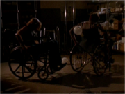 Wheelchair fight