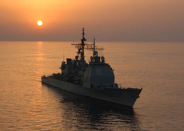 檔案:USS Vicksburg 28CG 6929 sunset 2004.jpg