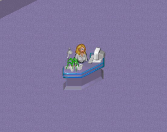 Theme Hospital receptionist