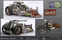 Bully Concept Art Nerd Battle Wagon