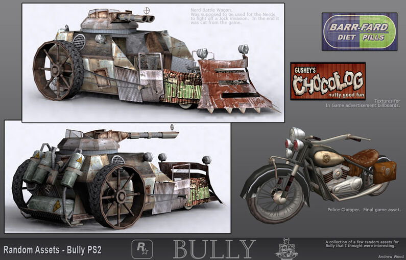 Bully Concept Art Nerd Battle Wagon