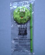 Carl's Jr 1996 Bump in the Night - Mr. Bumpy Green Pencil Topper with Pencil MIP