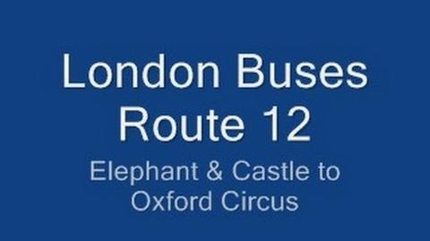 London Buses Route 12