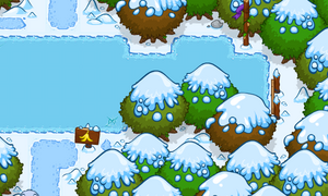 The Winter Wonderland-end of river
