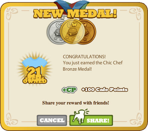 Chic Chef Bronze Medal