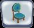 Round Blue Chair