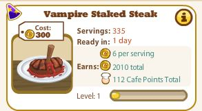 Vampire Staked Steak