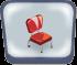 Red V Diner Chair