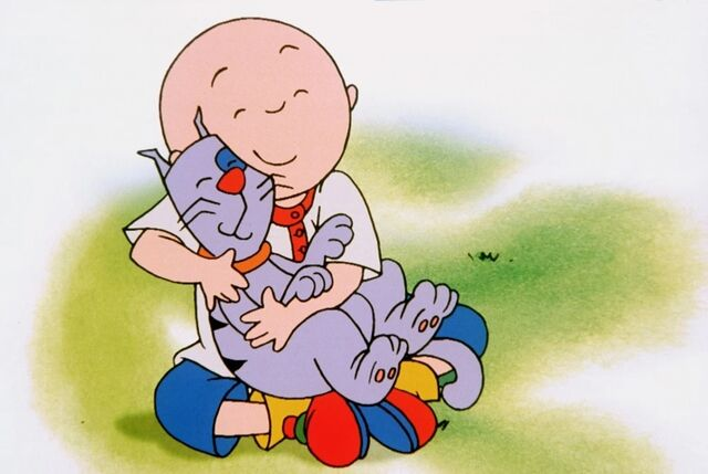 File:A Younger Caillou with Gilbert.jpg