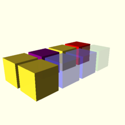 OpenSCAD linux ppc64 gallium-0.4-on hvub regression throwntogethertest color-tests-expected