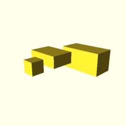 OpenSCAD linux ppc64 gallium-0.4-on hvub cgalpngtest-output cube-tests-actual