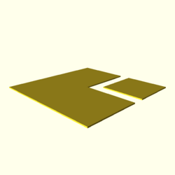 OpenSCAD linux ppc64 gallium-0.4-on hvub opencsgtest-output polygons-actual