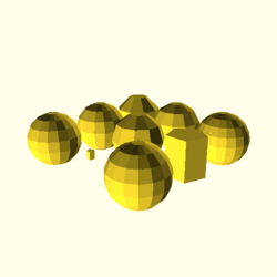 OpenSCAD linux ppc64 gallium-0.4-on hvub opencsgtest-output sphere-tests-actual