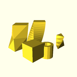 OpenSCAD linux i686 mesa-dri-r300 wicr regression opencsgtest linear extrude-tests-expected