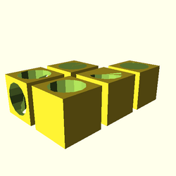 OpenSCAD opencsgtest difference-tests linux i686 software-rasterizer vcda actual