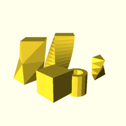 OpenSCAD linux i686 mesa-dri-intel(r) sdhi regression opencsgtest linear extrude-tests-expected