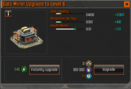 Gold Miner Level 6 Upgrade Stats CoDH
