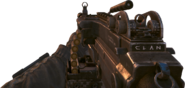 Mk 48 clan tag carved onto weapon BOII