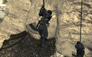 Shadow Company soldires with riot shields Just Like Old Times MW2