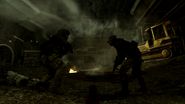 Price and Sandman fighting off enemy forces Down the Rabbit Hole MW3