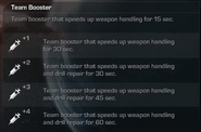Team Booster Description CoDG