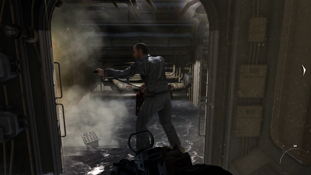 File:Russian submarine crew extingushing fire Hunter Killer MW3.png