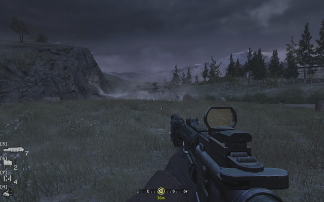 File:Helicopter extraction and end point Blackout CoD4.png
