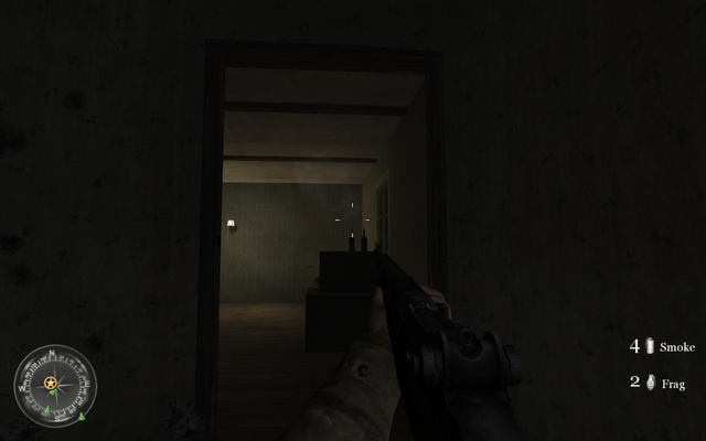File:Potential enemy ambush spot in second house Approaching Hill 400 CoD2.png