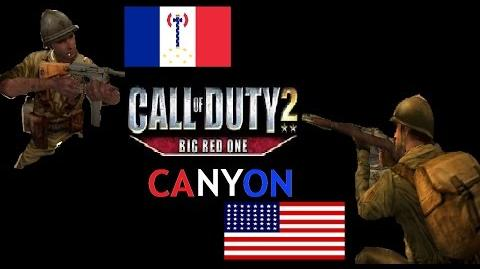 Call of Duty 2 Big Red One Online Multiplayer Match - Canyon (Domination)