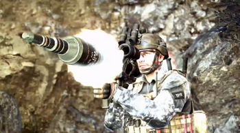 Panzerfaust being fired CoDG