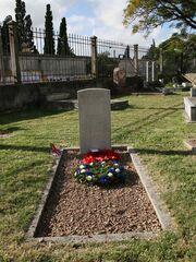 Perosnal grave in graveyard