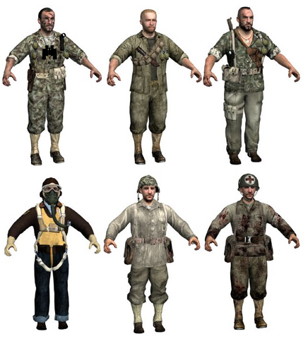 File:American character models WaW.PNG