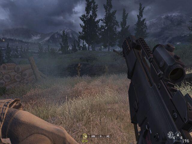 File:Reloading dead pilot's weapon Hunted CoD4.jpg