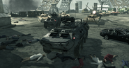 BTR-80 under Eiffel Tower MW3