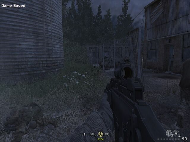 File:Advancing towards end of fence Hunted CoD4.jpg