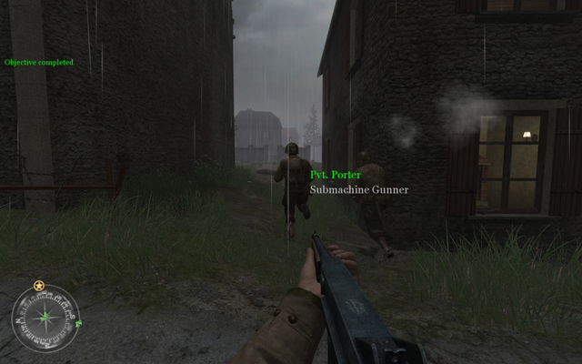 File:Alleyway leading to sandbags Approaching Hill 400 CoD2.png