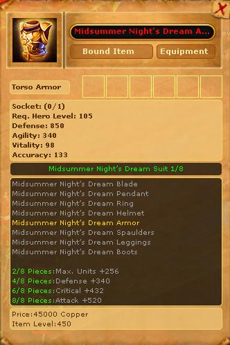 Midsummer Night's Dream Armor