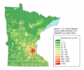 Minnesota population map.png