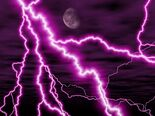 Purple night lightning storm