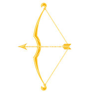 Gold-bow-and-arrow-vector-775197