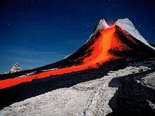 Volcano-lava