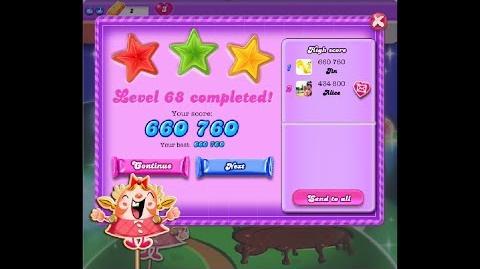 Candy Crush Saga Dreamworld Level 68 ★★★