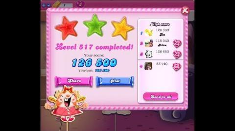 Candy Crush Saga Level 517 ★★★ NO BOOSTER