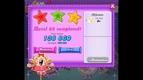 Candy Crush Saga Dreamworld Level 62 ★★★ 3 Stars