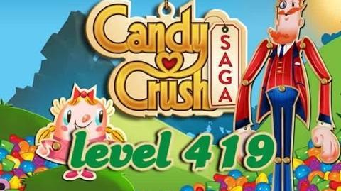 Candy Crush Saga Level 419 - ★★★ - 86,360
